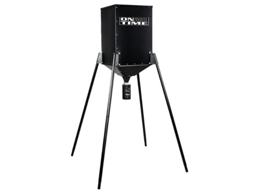 On Time S-250 Lifetime 250 lb Tripod Game Feeder Combo