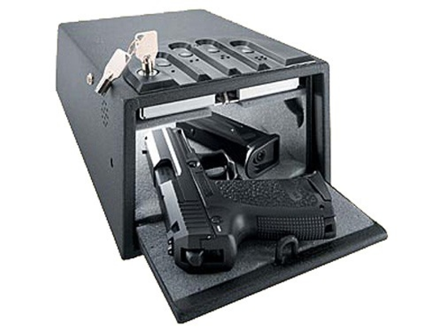 "GunVault Deluxe MiniVault Personal Electronic Safe 8"" x 5"" x 12"" Black"