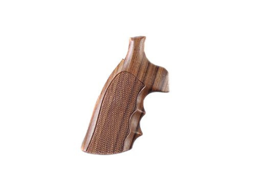 Hogue Fancy Hardwood Grips S&W N-Frame Square Butt Checkered