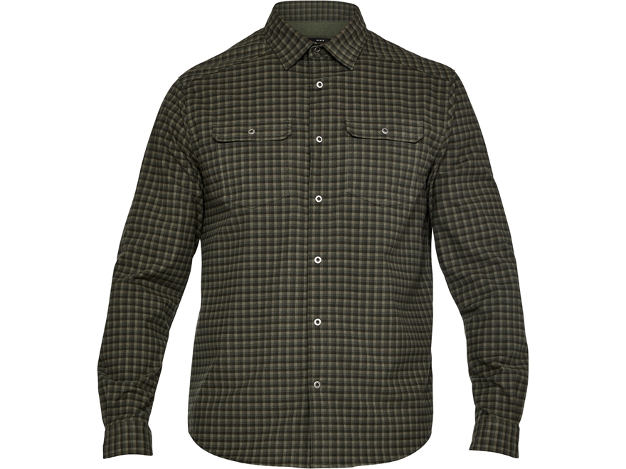 Under armour men 39 s ua threadborne flannel shirt upc for Polyester lined flannel shirts