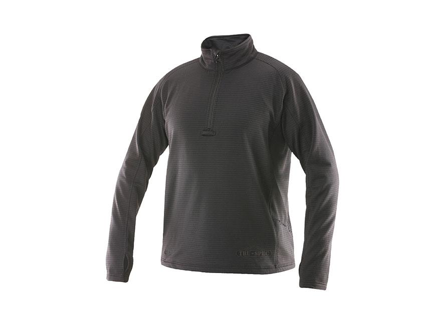 Tru-Spec 24-7 Grid Fleece 1/4 Zip Pullover Shirt Long Sleeve Polyester and Spandex