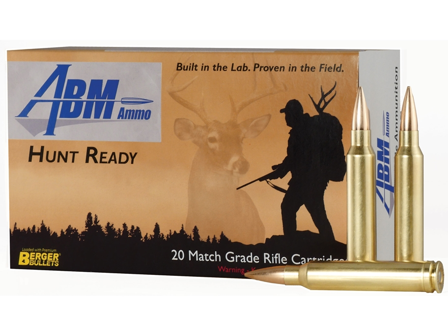 ABM Hunt Ready Ammunition 300 Winchester Magnum 168 Grain Berger Match Classic Hunter B...