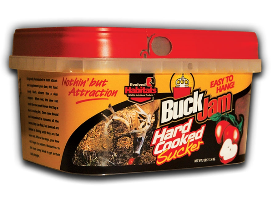 Evolved Habitats Buck Jam Hard Cooked Sucker Deer Attractant Block 3 lb