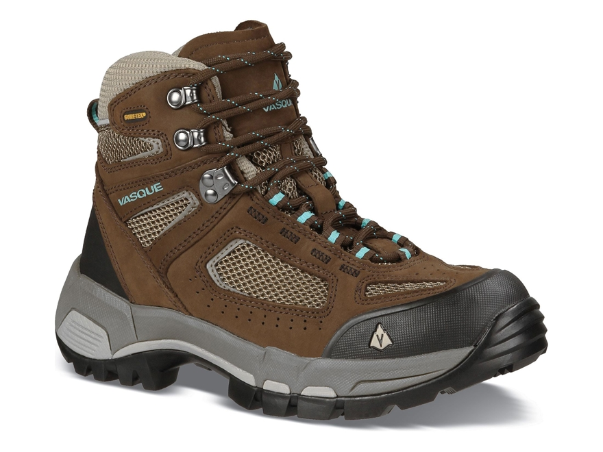 "Vasque Breeze 2.0 GTX 5"" Hiking Boots Waterproof Leather and Nylon Slate Brown and Blue..."