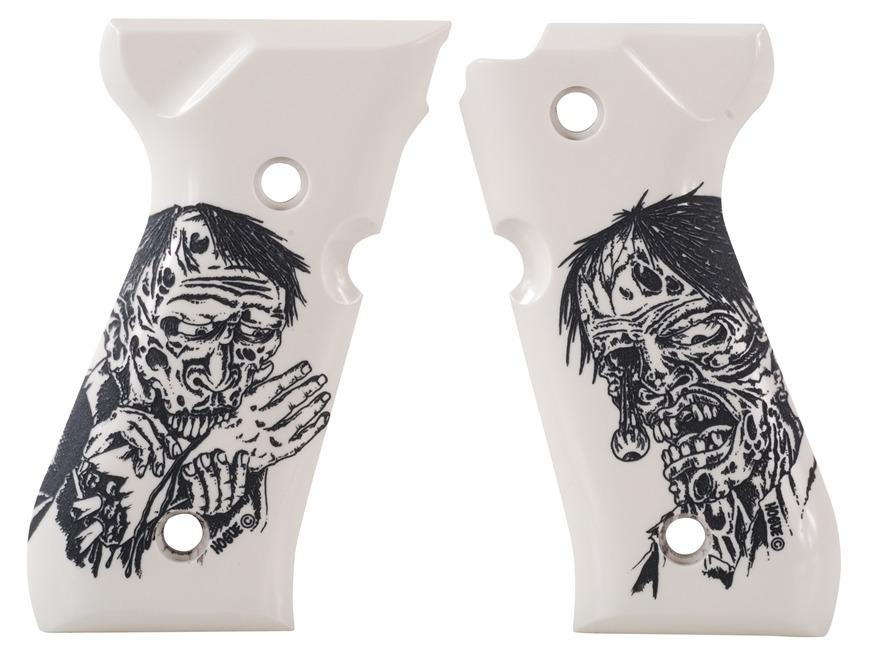 Hogue Grips Beretta 92 Ivory Polymer Zombie Pattern