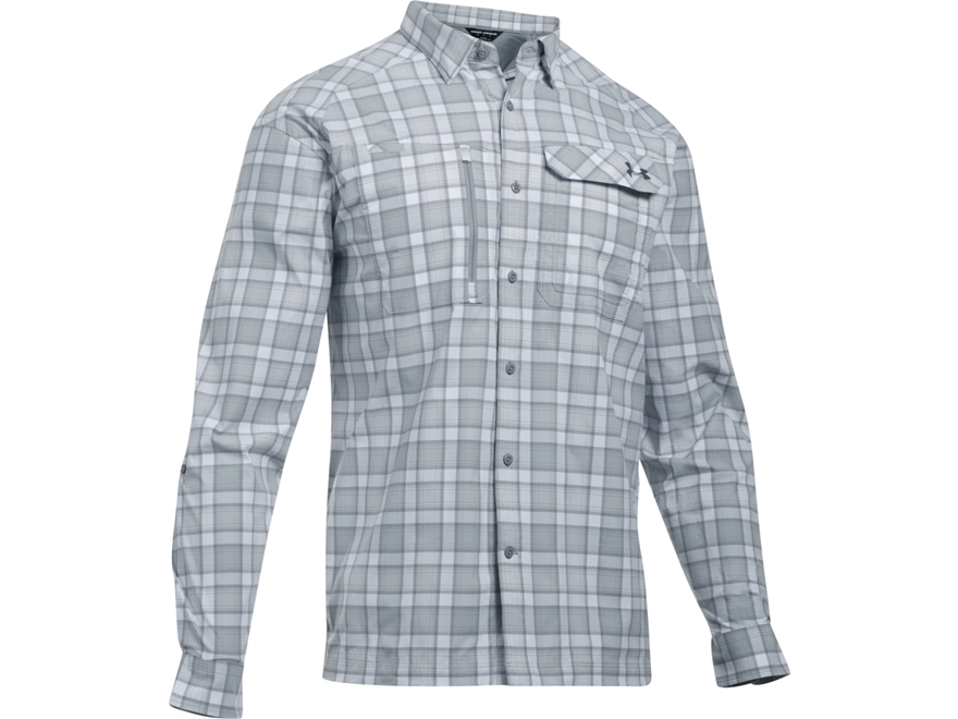 Armour Men's UA Fish Hunter Button-Up Shirt Long Sleeve Nylon