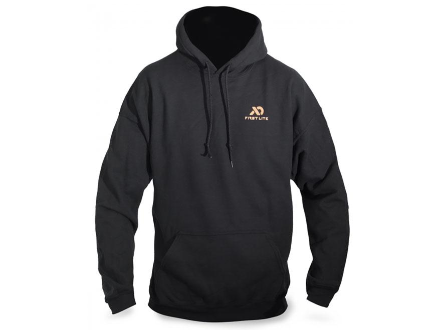 First Lite Men's Crest Hooded Sweatshirt Cotton Black Medium