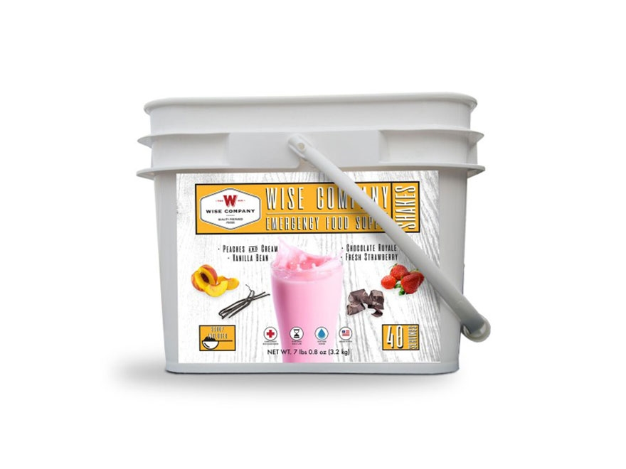 Wise Company 40 Serving Emergency Shake Freeze Dried Food Bucket