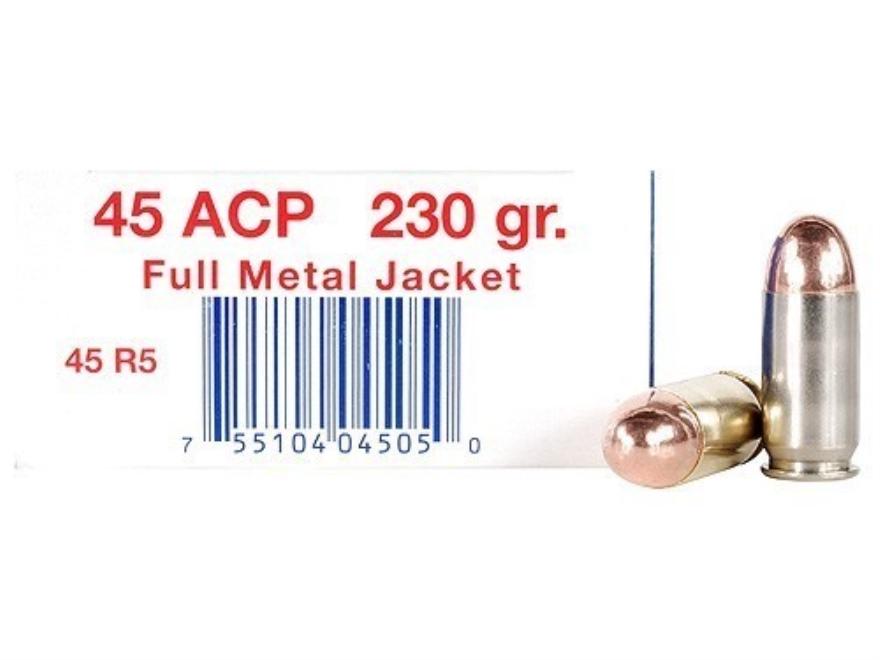Ultramax Remanufactured Ammunition 45 ACP 230 Grain Full Metal Jacket