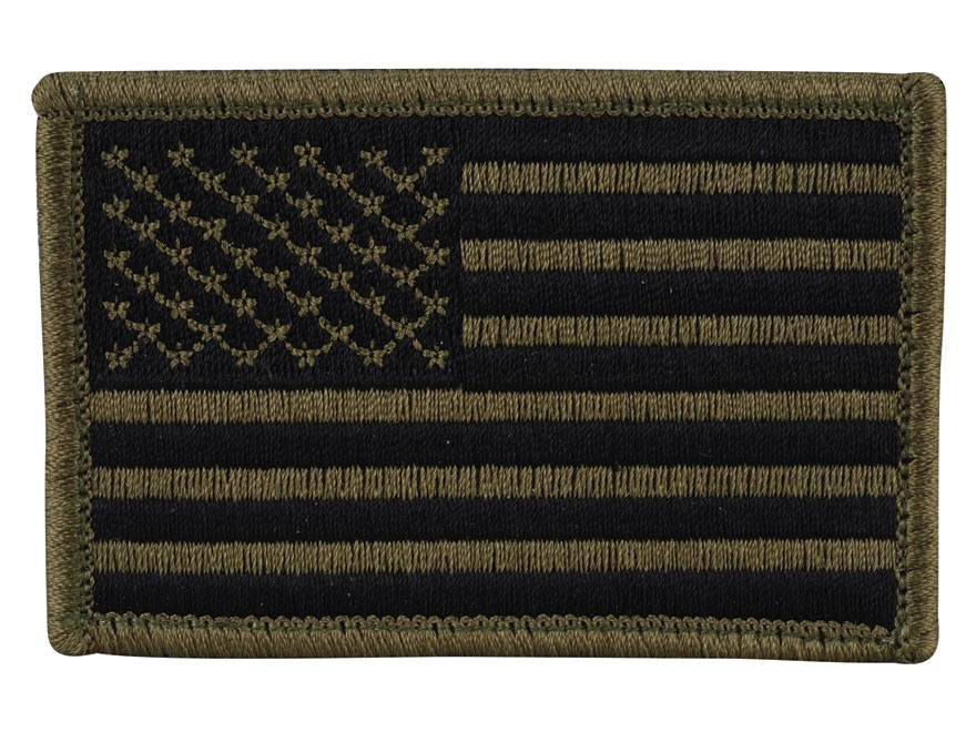 BLACKHAWK! American Flag Patch Subdued Olive Drab Standard