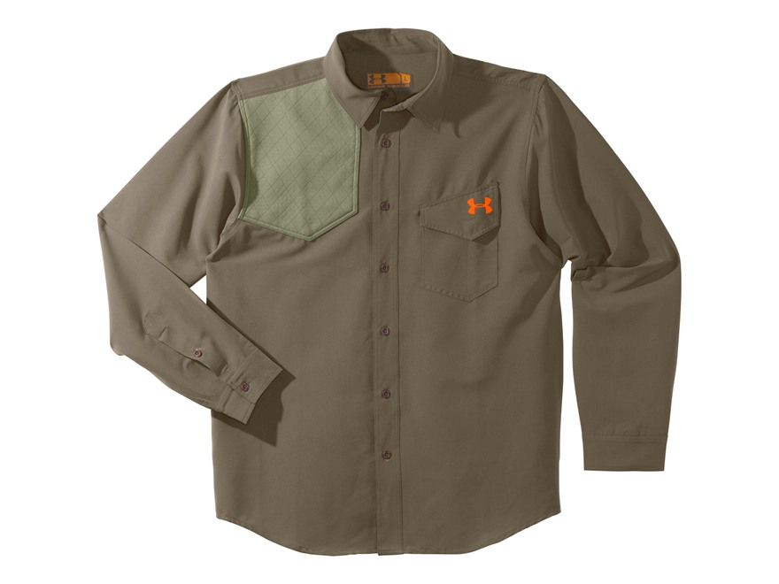 Under Armour Men's UA Prey Shooting Shirt Long Sleeve Polyester Blend Bayou and Blaze O...