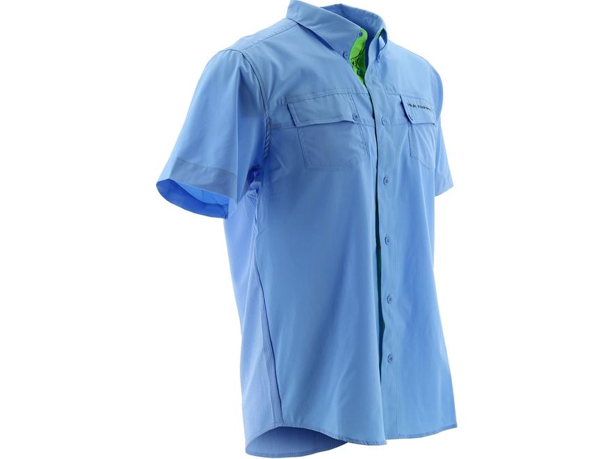 Huk Men's Phenom Button-Up Shirt Short Sleeve Polyester