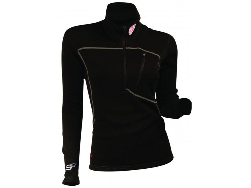 ScentBlocker Women's SOLA Expedition 1/4 Zip Base Layer Shirt Long Sleeve Merino Wool B...