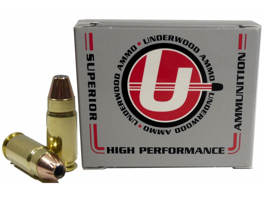 Underwood Ammunition 9x25mm Dillon 124 Grain Hornady XTP Jacketed Hollow Point Box of 20