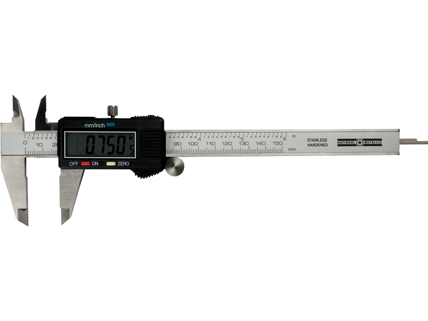 "National Metallic Digital Caliper 6"" Stainless Steel"