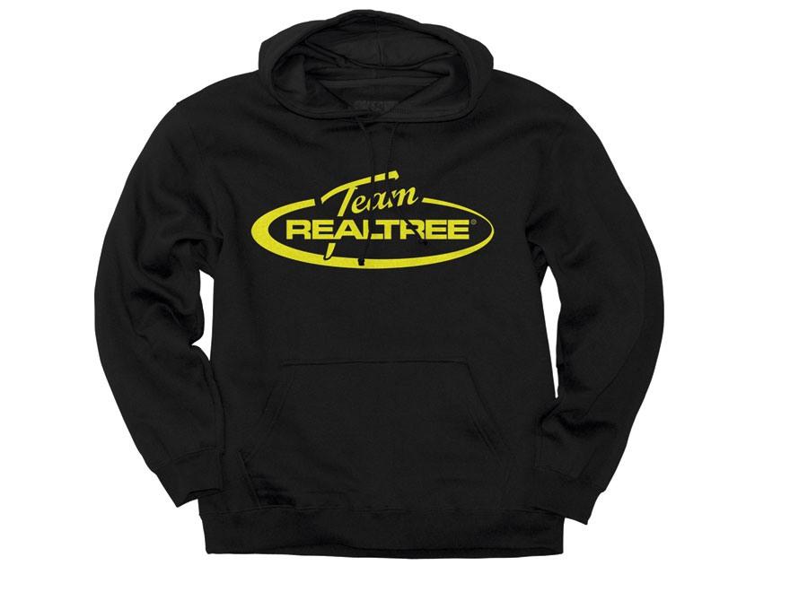 Team Realtree Men's Logo Hooded Sweatshirt Cotton Polyester Blend Black XL