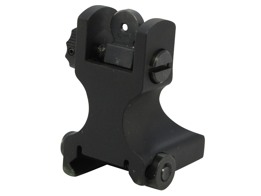 Samson Detachable Fixed Rear Sight AR-15 Flat-Top Aluminum Matte
