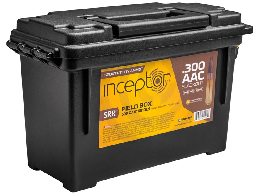 Polycase Inceptor Sport Utility Ammunition 300 AAC Blackout 88 Grain Frangible SRR Lead...