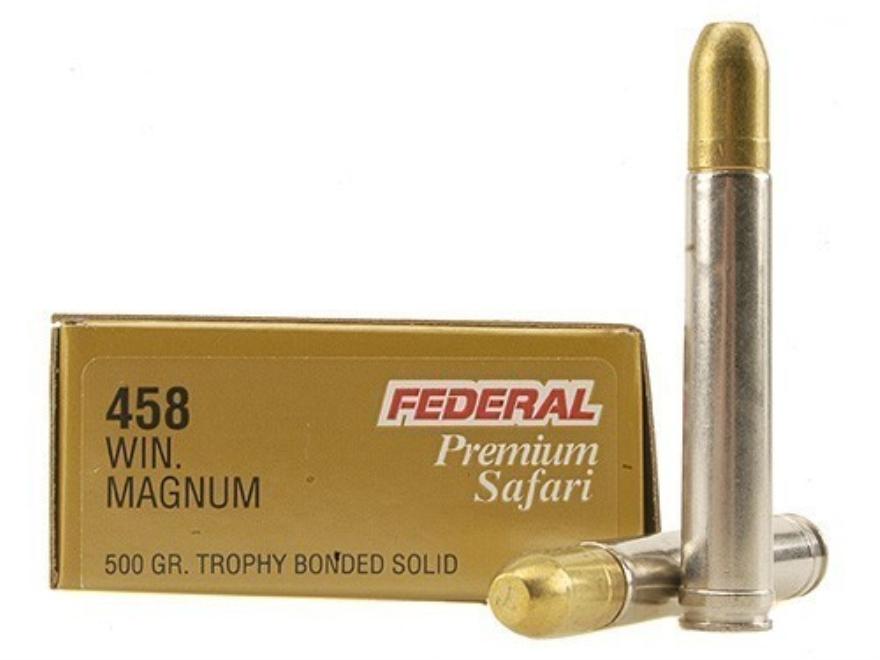 Federal Premium Cape-Shok Ammunition 458 Winchester Magnum 500 Grain Speer Trophy Bonde...