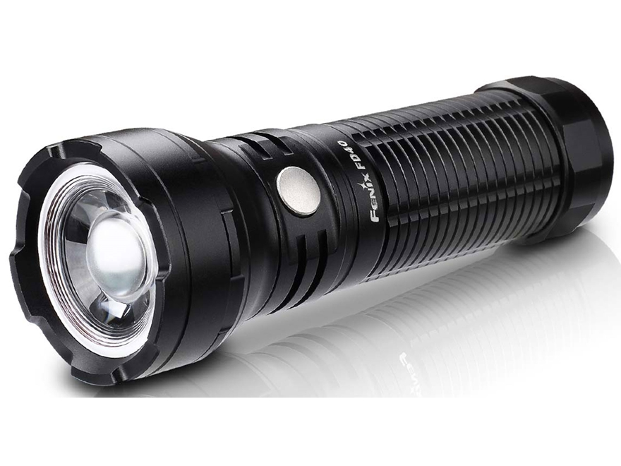 Fenix FD40 Flashlight LED Requires 26650 or 18650 Rechargeable Battery Aluminum Black