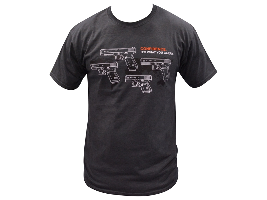 Glock Men's 9mm Pistol Family Logo T-Shirt Cotton
