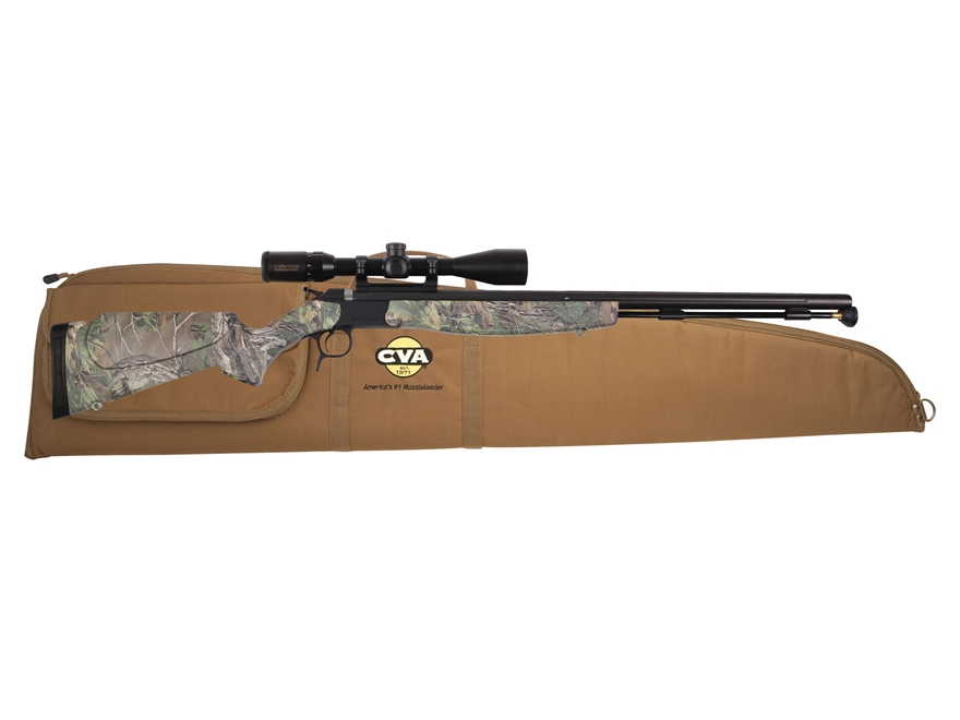 "CVA Optima V2 Muzzleloading Rifle with KonusPro 3-9 x40mm Scope 50 Caliber 26"" Fluted N..."