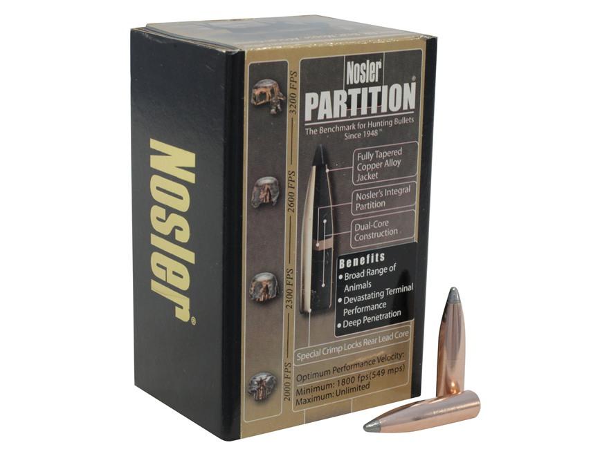 Nosler Partition Bullets 270 Caliber (277 Diameter) 150 Grain Spitzer Box of 50
