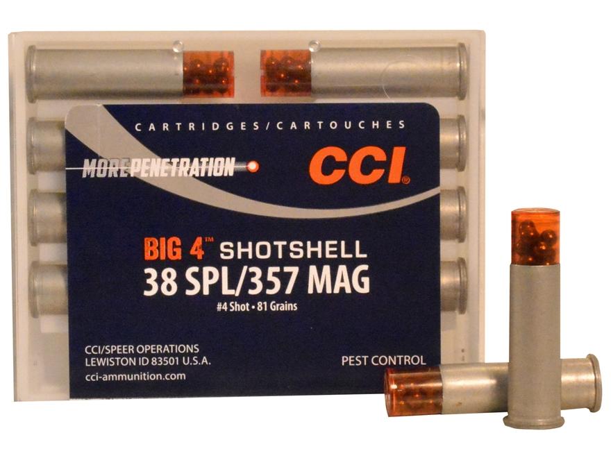 CCI Big 4 Shotshell Ammunition 38 Special 84 Grains #4 Shot Box of 10