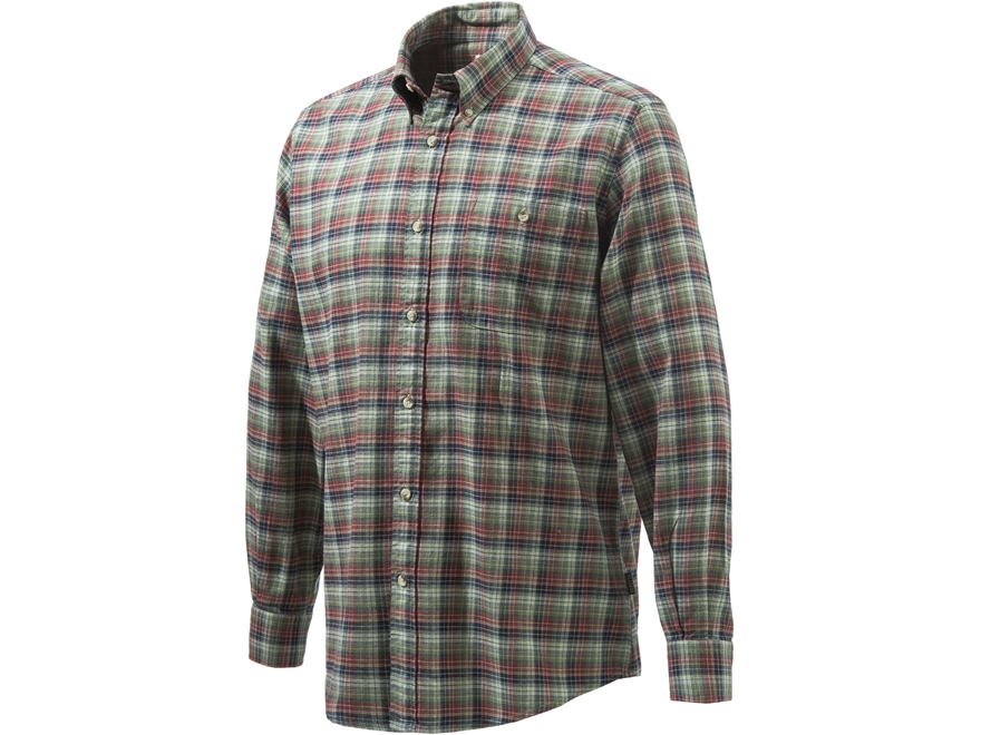Beretta Men's Flannel Sport Shirt Long Sleeve Cotton
