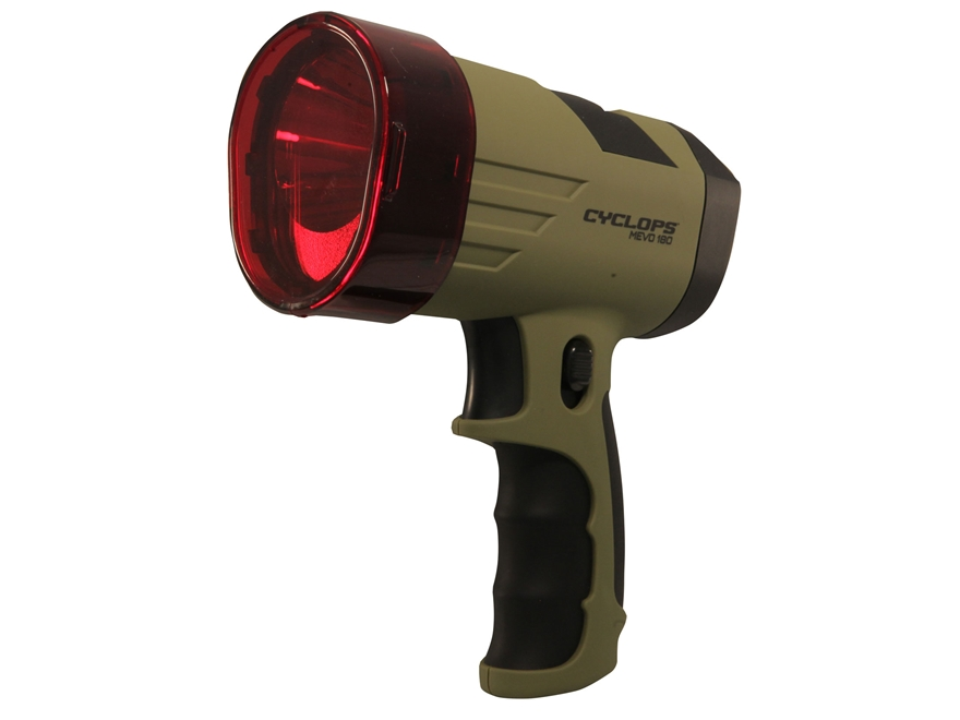 Cyclops MEVO Ultra Compact Handheld Spotlight LED with 4 AA Batteries Polymer Tan