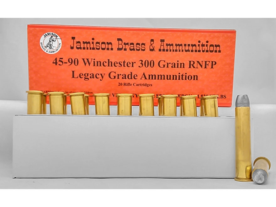 Jamison Ammunition 45-90 WCF 300 Grain Lead Round Nose Flat Point Box of 20