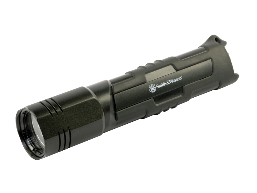 Smith & Wesson Galaxy Pro Flashlight LED with 4 AA Batteries Aluminum Black