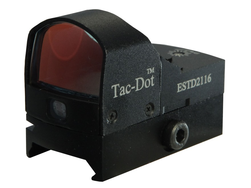 Leatherwood Hi-Lux TAC-DOT Reflex Red Dot Sight 1x 4 MOA Dot with Integral Weaver-Style...