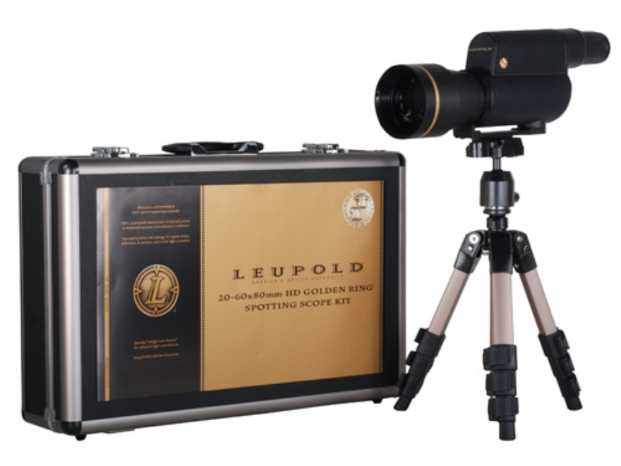 Leupold Golden Ring Boone & Crockett Spotting Scope 20-60x 80mm Armored Black with Trip...