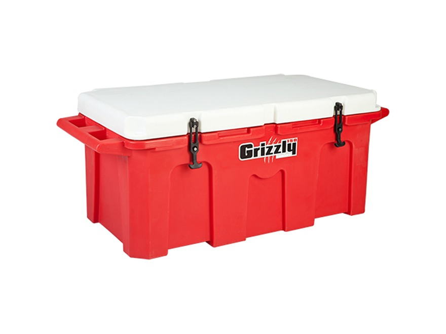 Grizzly 150 Qt Cooler with Molded Handles Polyethylene Red