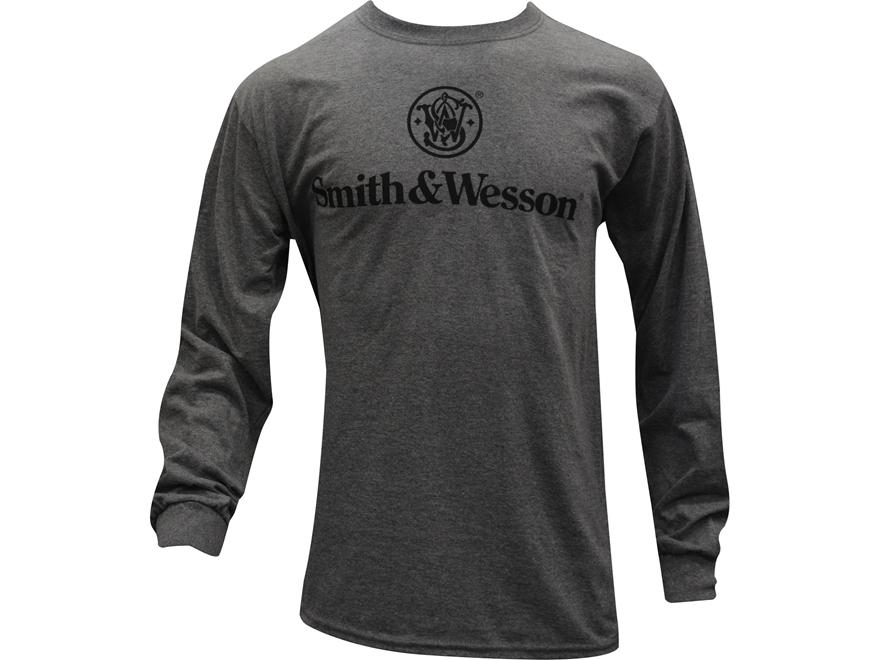 Smith & Wesson Men's Basic Logo T-Shirt Long Sleeve Cotton