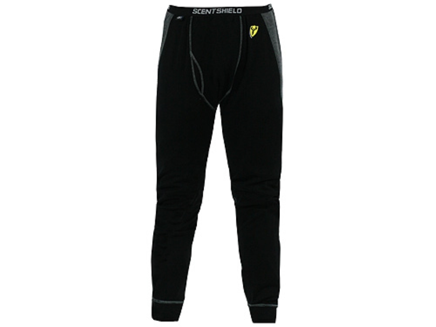 ScentBlocker Men's S3 Midweight Base Layer Pants Wool Black and Gray 2XL 44-46 Waist 33...