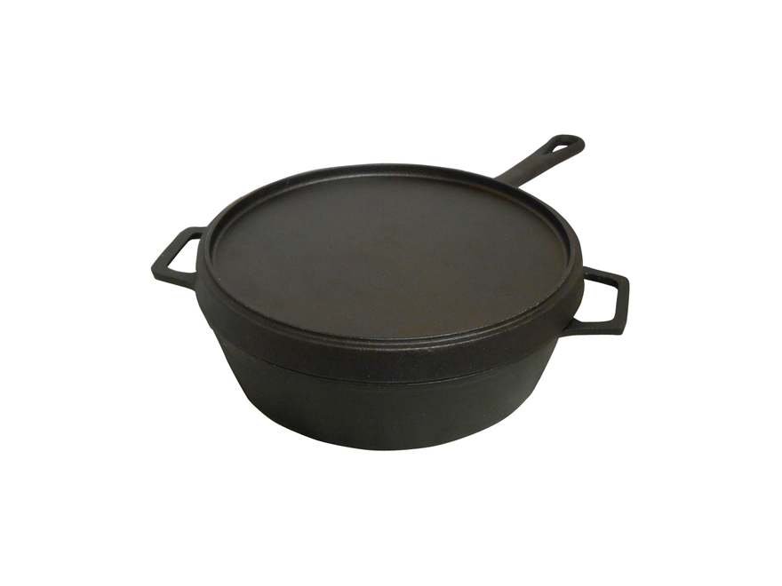 King Kooker 5 Qt Seasoned Cast Iron Fryer