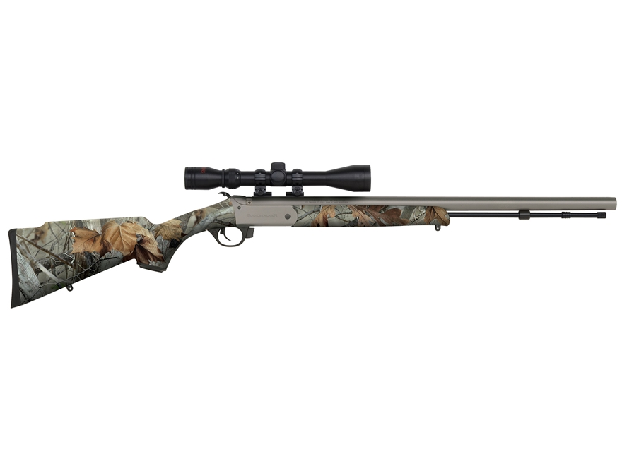 "Traditions BuckStalker Muzzleloading Rifle with 3-9x 40mm Duplex Scope 50 Caliber 24"" C..."