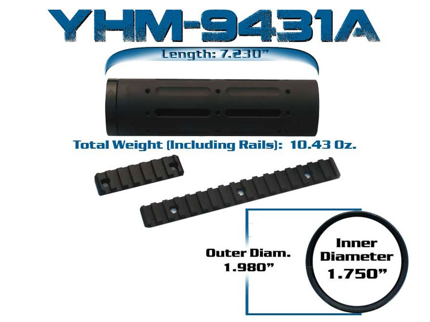yankee hill machine customizable free float handguard