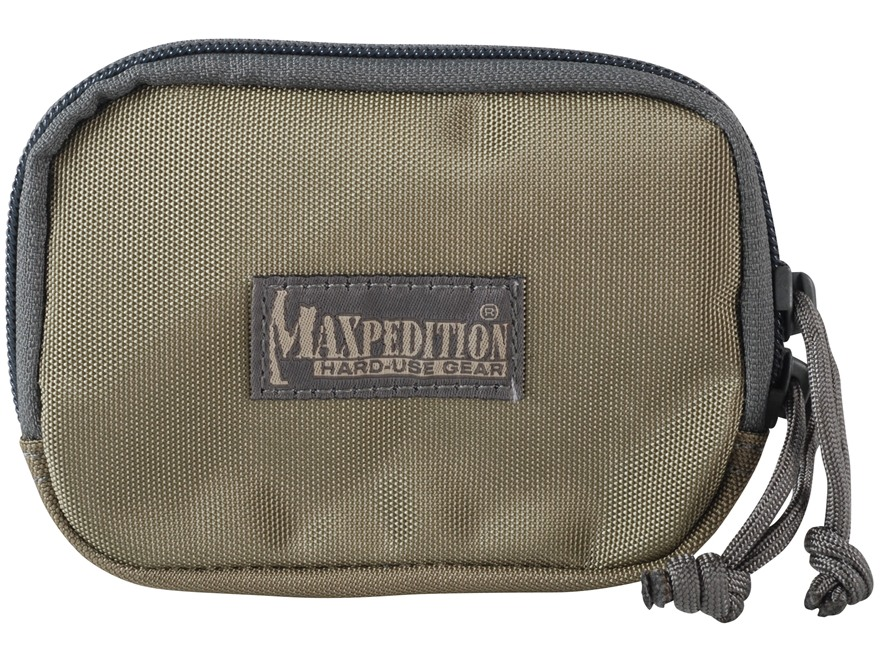 Maxpedition Hook-&-Loop Fastener Zipper Pocket Insert Nylon Khaki and Foliage Green