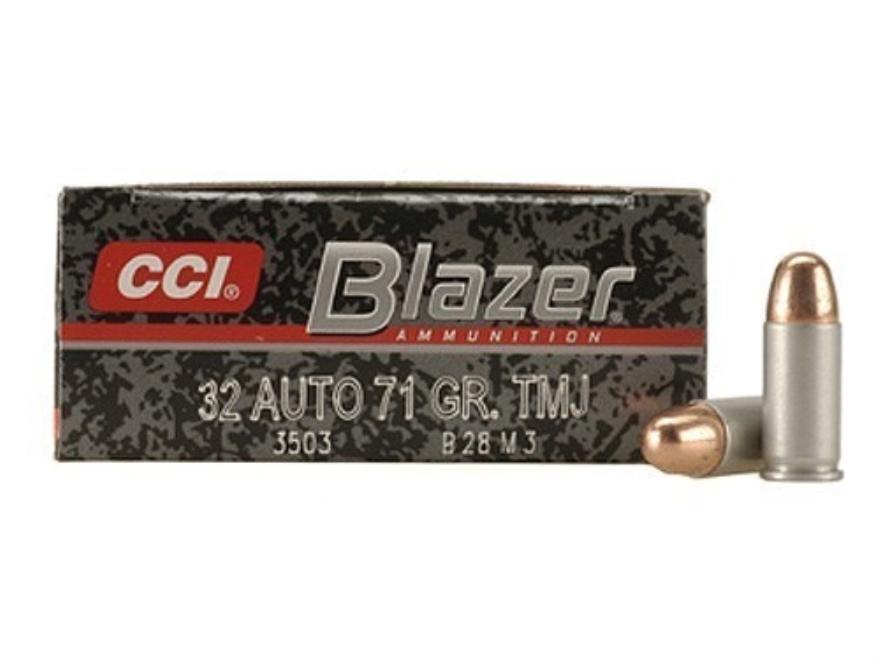 Blazer Ammunition 32 ACP 71 Grain Total Metal Jacket Box of 50