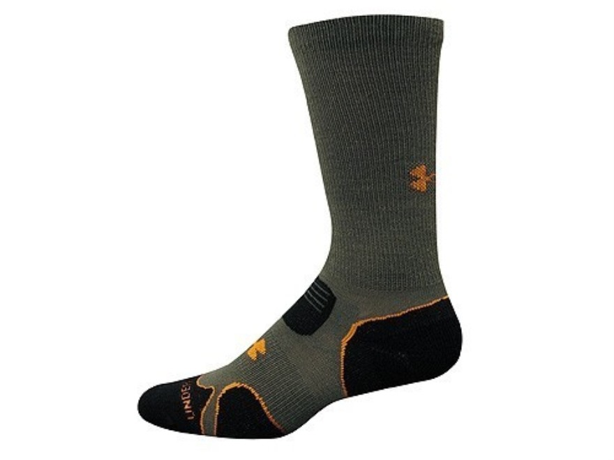 Under Armour Men's Hitch Lite Cushion Boot Socks Synthetic Blend Sage/Gray Large (9-12....