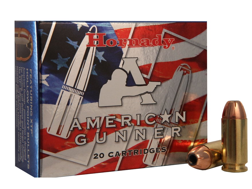 Hornady American Gunner Ammunition 40 S&W 180 Grain XTP Jacketed Hollow Point Box of 20