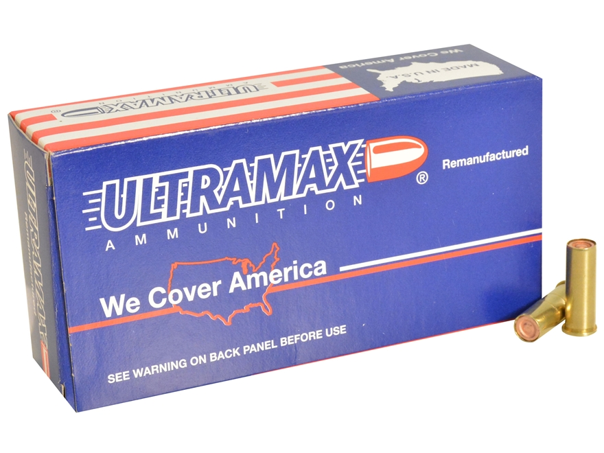 Ultramax Remanufactured Ammunition 38 Special 148 Grain Plated Lead Match Hollow Base W...