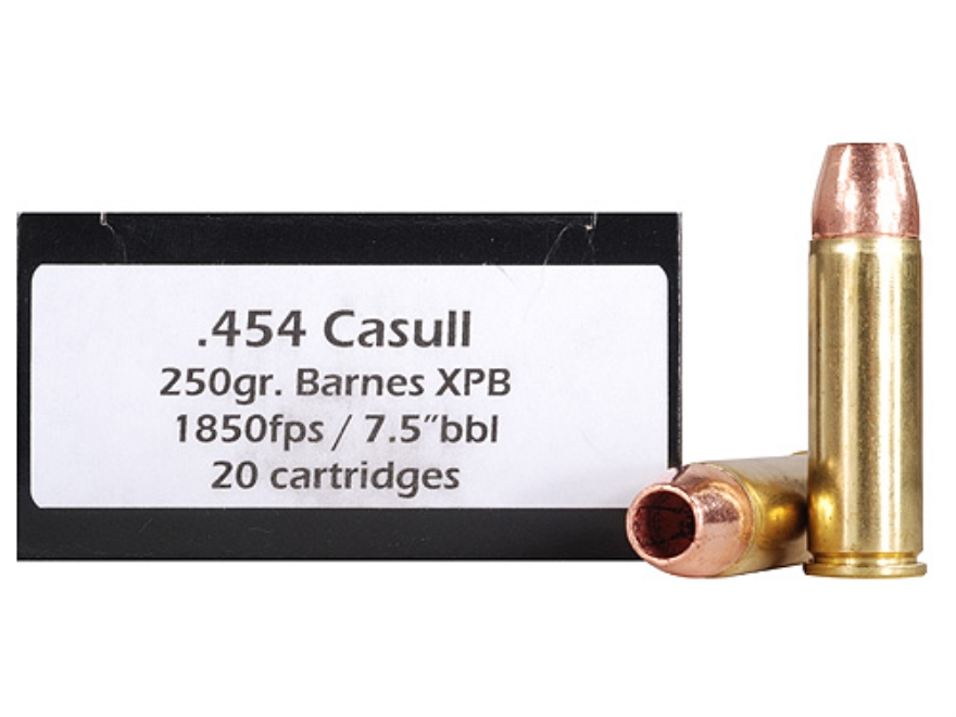 Doubletap Ammunition 454 Casull 250 Grain Barnes TAC-XP Hollow Point Lead-Free Box of 20