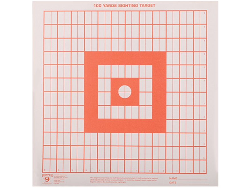 "Hoppe's Target Sighting-In 14"" x 14"" Package of 100"