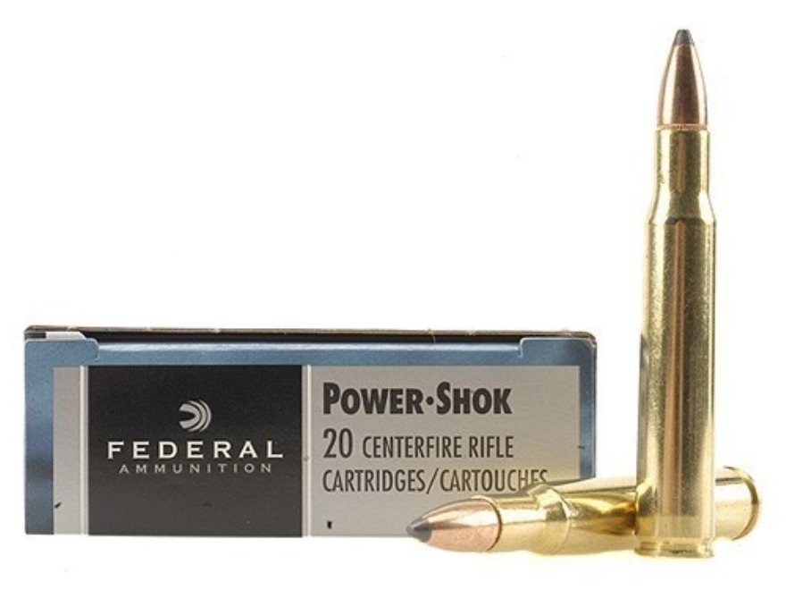 Federal Power-Shok Ammunition 30-06 Springfield 125 Grain Speer Hot-Cor Soft Point Box ...
