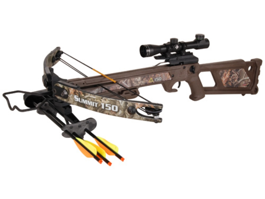 Horton Summit HD 150 Crossbow Package with 4 x 32 Multi-Reticle Scope Realtree Hardwood...