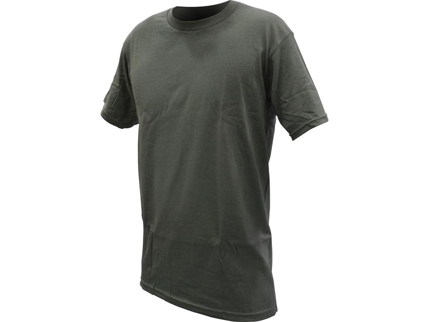 Military Surplus Crew T-Shirt Grade 1 Short Sleeve Cotton 3-Pack Foliage Green Medium